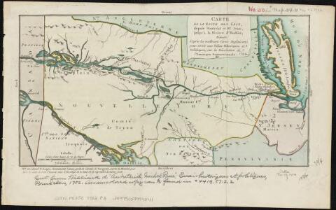 Carte de la route des lacs depuis Montréal et St. Jean jusqu'à la Riviere d'Hudson réduite d'après les meilleures cartes anglais e[s], pour servir aux Essais historiques et politiques sur la révolution de l'Amérique septentrionale