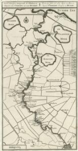 Land-Kaartjen, aanwysende de Plaatsen en Huysen van Utrecht tot aan Muyden = Carte qui fait voir Les Lieux et Maisons depuis Utrecht Jusques a Muyde