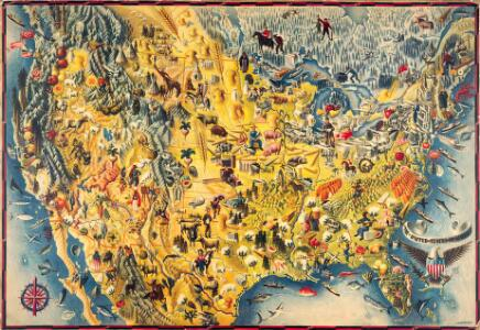 The Covarrubias America: a decorative map of the United States of America