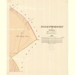 Josephsdorf - m1127-1-004 - Kaiserpflichtexemplar der Landkarten des stabilen Katasters