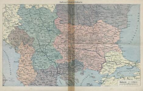 Balkan-Uebersichtskarte