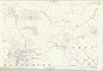 Herefordshire XXXII.10 (includes: Blakemere; Moccas; Preston On Wye; Tyberton) - 25 Inch Map