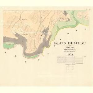 Klein Deschau - m1710-1-004 - Kaiserpflichtexemplar der Landkarten des stabilen Katasters