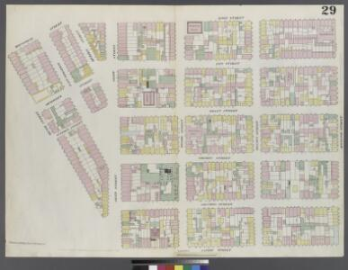 Plate 29: Map bounded by Rivington Street, Cannon Street, Henry Street, Montgomery Street, Ridge Street