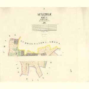 Aulehle - c8240-1-001 - Kaiserpflichtexemplar der Landkarten des stabilen Katasters