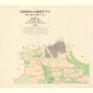 Gross Lhotta (Welka Lhotta) - m3310-1-001 - Kaiserpflichtexemplar der Landkarten des stabilen Katasters