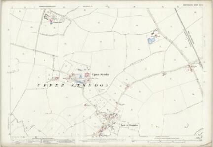 Bedfordshire XXVI.4 (includes: Henlow; Meppershall; Shillington; Upper Stondon) - 25 Inch Map