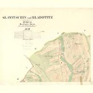 Slawitschin und Mladotitz - m2770-2-001 - Kaiserpflichtexemplar der Landkarten des stabilen Katasters