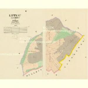 Lippkau (Lippkow) - c4018-1-001 - Kaiserpflichtexemplar der Landkarten des stabilen Katasters