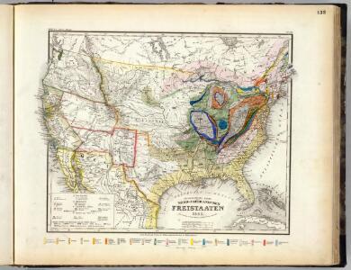 Geognos. Karte, Nord-Amer. Freistaate.