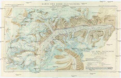 Karte des Zemu-Gletschers