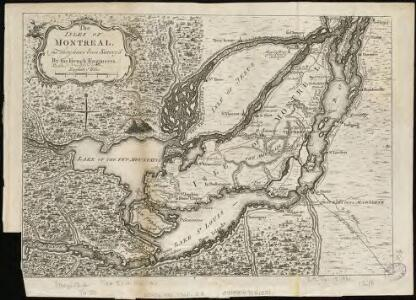 The Isles of Montreal as they have been survey'd by the French engineers