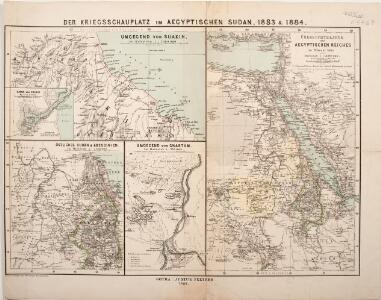 Der Kriegsschauplatz im aegyptischen Sudan, 1883 & 1884