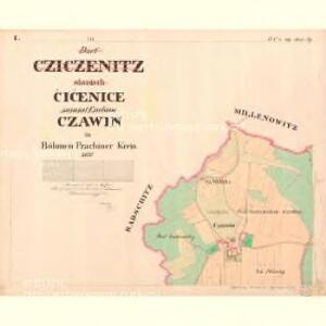 Cziczienitz - c1005-1-001 - Kaiserpflichtexemplar der Landkarten des stabilen Katasters