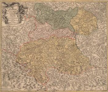 Austriae Archiducatus Superioris in suas Quadrantes Ditiones exacte divisi accuratissima Tabula
