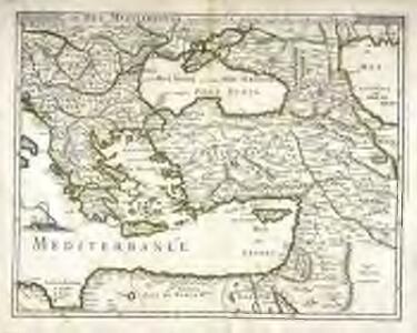 La mer Mediterranée vers l'orient