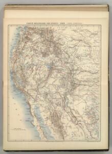 Carte Militaire des Etats - Unis (Partie Occidentale).