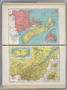 Nova Scotia, New Brunswick, and Prince Edward Island.  Quebec.