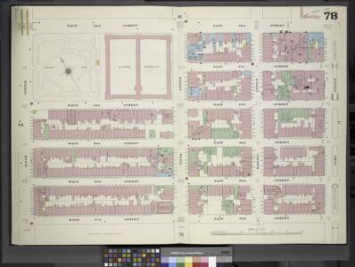 Manhattan, V. 4, Double Page Plate No. 78 [Map bounded by West 42nd St., East 42nd St., Park Ave., East 37th St., West 37th St., 6th Ave.]