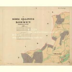 Böhm. Gillowitz - c2059-2-001 - Kaiserpflichtexemplar der Landkarten des stabilen Katasters