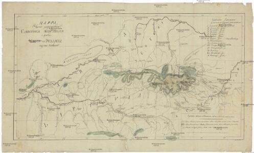 Mappa physico-geographica Carpatorum principalium e quibus Wagus et Dunajetz origines trahunt