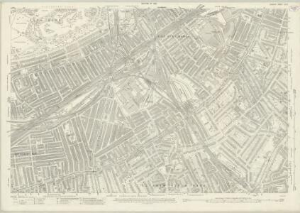 London (1915- Numbered sheets) IX.5 (includes: Battersea; Lambeth St Mary; Wandsworth Borough) - 25 Inch Map