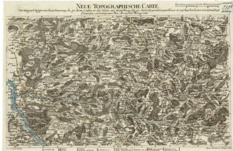 Neue Topographische Carte Der Sieg und Agger von ihrem Ursprunge bis zu ihrem Einflus in den Rhein mit Bemerkung der in dieser Gegend vorgefallenen Kriegsbegebenheiten von 1795 und 1796