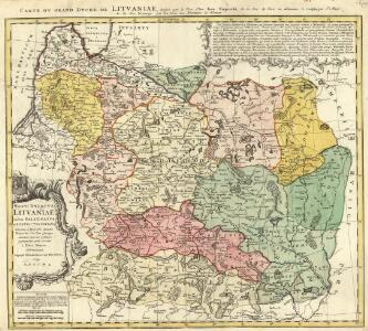 Magni Dvcatvs Litvaniae in svos Palatinatvs et Districtvs Divisvs