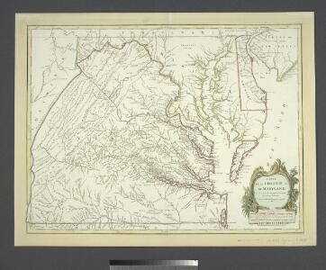 Carte de la Virginie et du Maryland dressée sur la grande carte angloise de Mrs. Josué Fry et Pierre Jefferson, / par le Sr. Robert de Vaugondy, géographe; Groux.