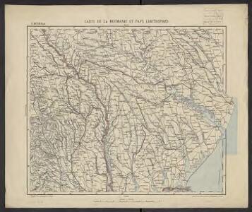 Carte de la Roumanie et pays limitrophes. Odessa