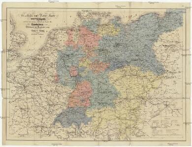 Geschäfts- und Reise-Karte von Deutschland und den angrenzenden Ländern
