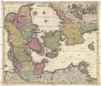 Daniae regnum cum ducatu Holsatiae et Slesvici, nec non insulae Danicae, et Iutia cum parte Scaniae