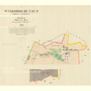 Weissöhlhütten (Biela Lhotta) - m0076-1-001 - Kaiserpflichtexemplar der Landkarten des stabilen Katasters