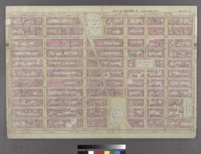 Plate 14: Bounded by w. 25th Street, E. 25th Street, Second Avenue, E. 14th Street, W. 14th Street, and Seventh Avenue.
