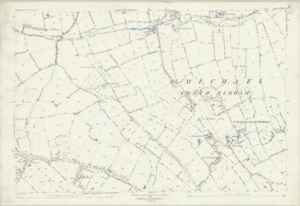 Suffolk XVII.11 (includes: Ilketshall St Margaret; South Elmham All Saints and St Nicholas; South Elmham St Margaret; South Elmham St Michael; South Elmham St Peter) - 25 Inch Map