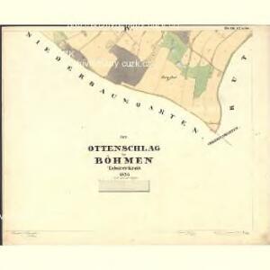 Ottenschlag - c5586-1-004 - Kaiserpflichtexemplar der Landkarten des stabilen Katasters