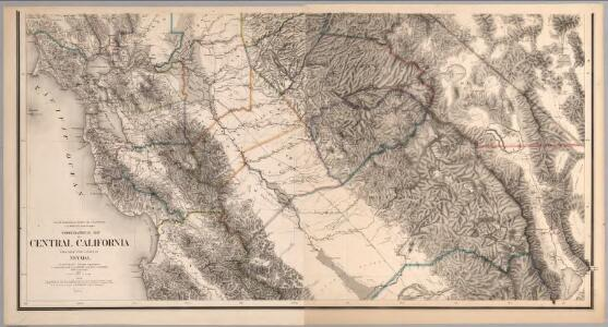 Composite:  Topographical Map of Central California Together With a Part of Nevada, Sheets III-IV.