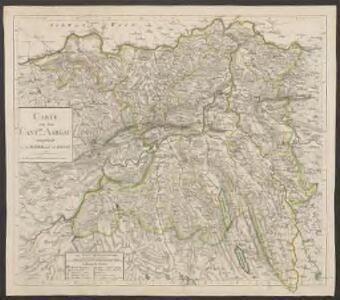 Carte von dem Canton Aargau