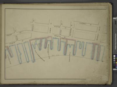 [Map bounded by Front St, Water St, Cherry St, Market Slip, Pier - Line 26-39; Including South Street, Peck Slip Ferry, Dover St,      Roosevelt St, Ferry to Williamsburgh, James St, Oliver St, Catharine St,         Catharine Ferry]