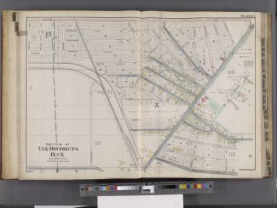 Buffalo, V. 1, Double Page Plate No.1 [Map bounded by Kenmore Ave., Minnesota Ave., Hertel Ave., Dryden Ave.] / engraved by Albert Volk.