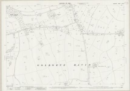 Cheshire XLVII.9 (includes: Golborne Bellow; Golborne David; Hatton; Lea Newbold; Saighton) - 25 Inch Map