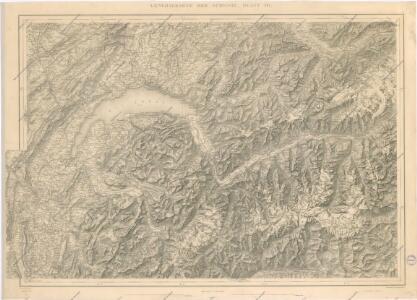 Karte der Schweiz... Blatt III.