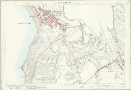 Dorset LVIII.11 (includes: Portland) - 25 Inch Map