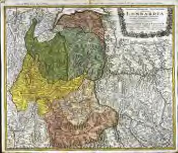 Statvvm Italiae svperioris vulgo olim Lombardia dictorum geographica delineatio