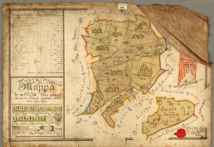 Mappa der zur k.k. Stadt Pilsner gehörigen und von der Hradecker abgetheilte = Bukssitzer