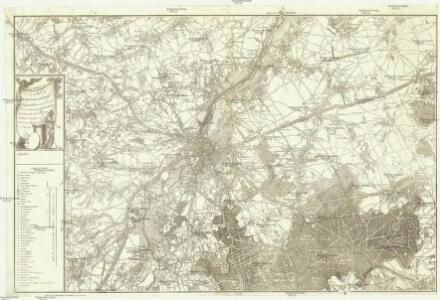 Carte topographique de Bruxelles et de ses environs