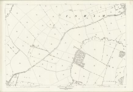 Northamptonshire XXXII.10 (includes: Isham; Little Harrowden; Orlingbury; Pytchley) - 25 Inch Map