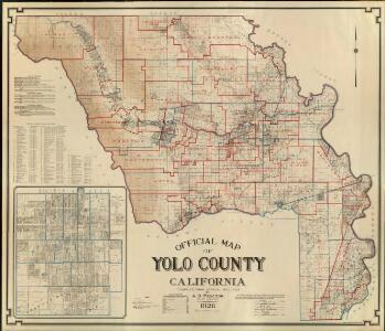 Official Map of Yolo County, California, 1926.
