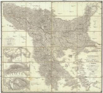 Carte generale de la Turquie d'Europe a la droite du Danube ou des beglerbegliks de Roum Ili, Bosna et Moree
