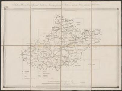Blatt zur Übersicht der Special Karte der Markgrafschaft Mähren und des Herzogthums Schlesien